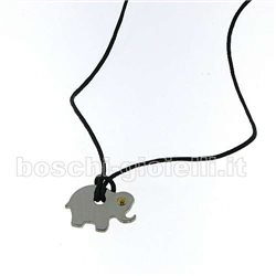 Jeko ciondolo je-elefante con simbologia acciaio oro