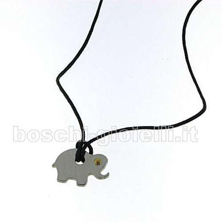 JEKO je-elephant pendent symbols steel and gold