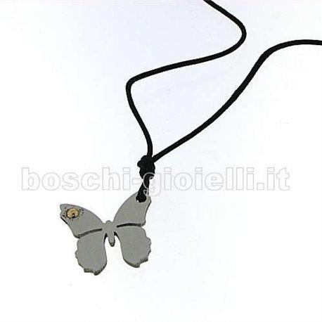 JEKO je-butterfly pendent steel gold