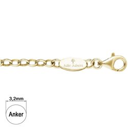 JULIE JULSEN jjc0-yg silver oval chain yellow gold plated