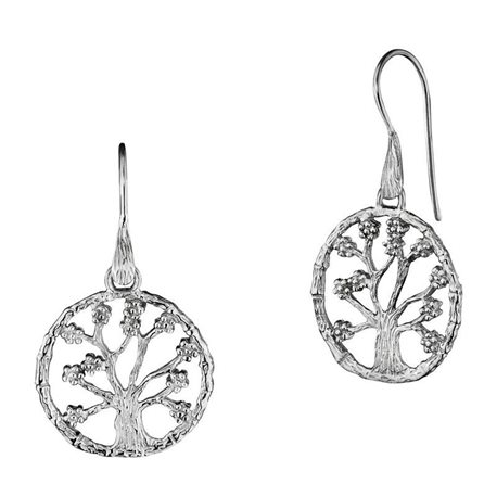 JULIE JULSEN silver earrings jjer8723-1 tree of life