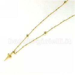 Cesare Paciotti jpcl0818g collana argento placcato oro