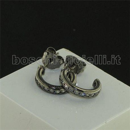 CESARE PACIOTTI jpor0816d silver earrings wit zircons