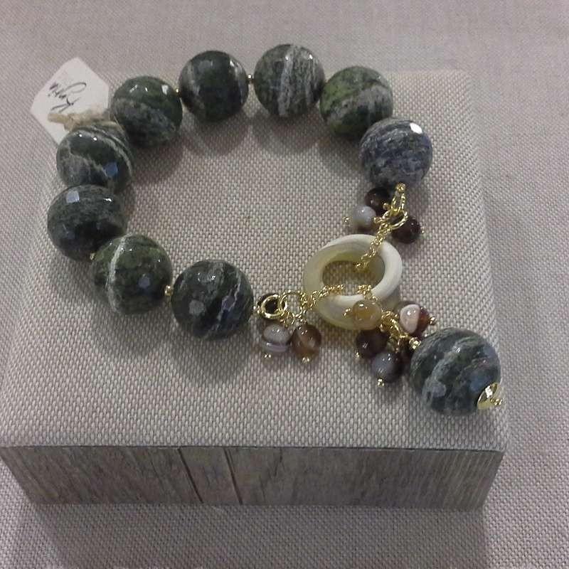 3904735f9abf57 kyria kbr3152 bracciale pietre dure con argento negozio reggio emilia