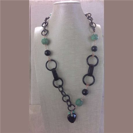 KYRIA necklace kcl2066-m with gemstones and silver