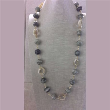 KYRIA necklace kcl2121 hard stones with silver