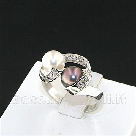 OUR CREATIONS ring pearls and diamond collection li353