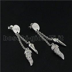 LIU.JO silver earrings lucky collection