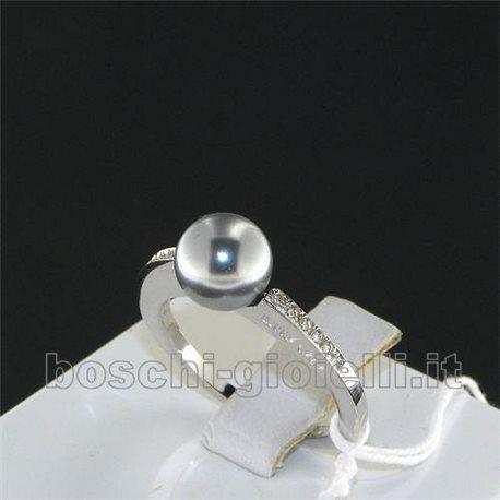 Liu Jo anello perla grigia lj514 in argento