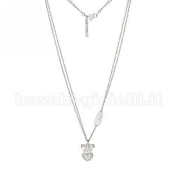 Liu Jo catena luxury lj580 fiocco cuore argento