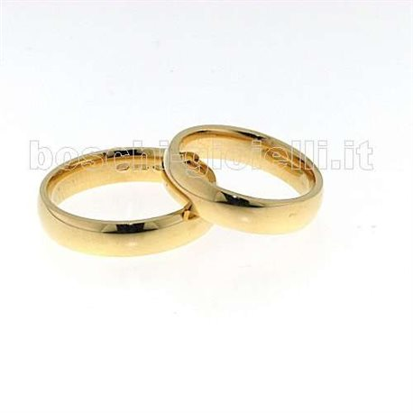 UNOAERRE 50afc1 comfort wedding ring yellow gold 5mm