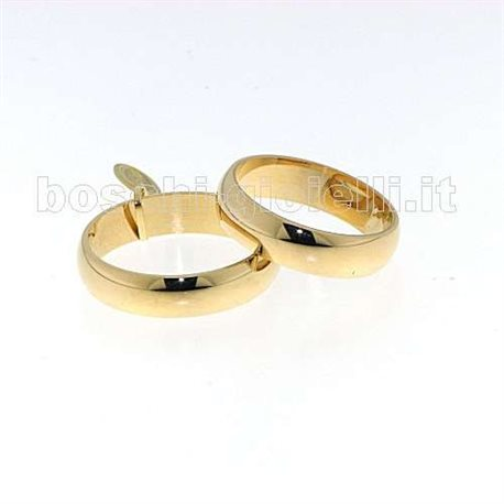 UNOAERRE 50afn7 mantovana wedding ring yellow gold 5 grams