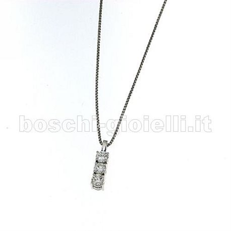 OUR CREATIONS chain with pendent trilogy diamonds mon3380