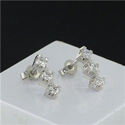 OUR CREATIONS earrings trilogy diamonds collection mon3396