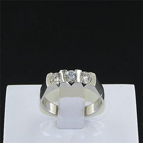 OUR CREATIONS ring trilogy diamonds mon3407