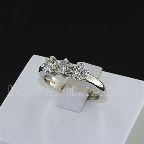 OUR CREATIONS jewelry ring trilogy diamonds n645mon3387