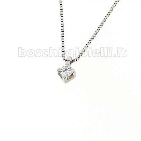OUR CREATIONS chain with pendent solitaire diamond 4 griffe n648mon3840