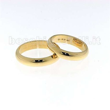 UNOAERRE 70afn1 classic wedding ring yellow gold 7 grams