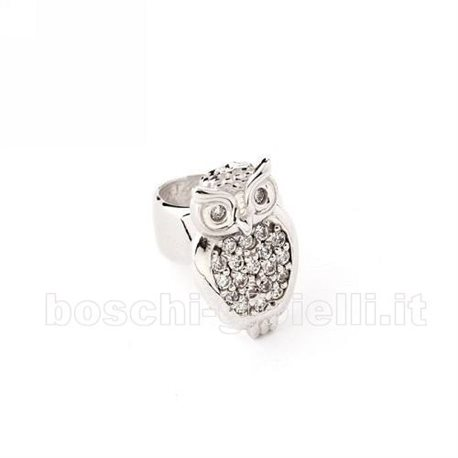MOOD EAR CUFFS or-mp-5064sx owl in silver with zircons