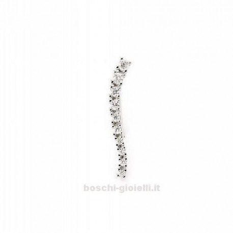 MOOD EAR CUFFS or-mp-5500 hollywood collection in silver with zircons