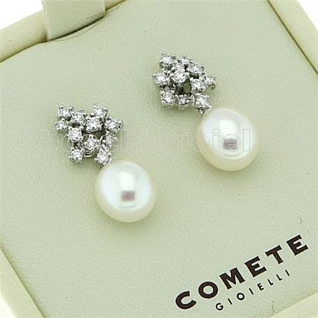 COMETE orp451 jewelry earrings pearl collection with diamonds