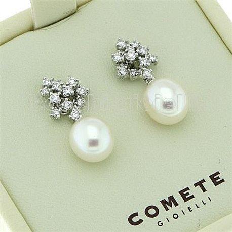 prezzo più basso 0a970 acf31 comete gioielli orp451 orecchini perle diamanti negozio reggio emilia