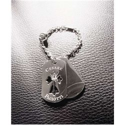 CESARE PACIOTTI pc0112b silver key ring