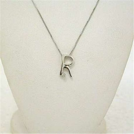 INITIAL r jewelry symbols collection gold diamond
