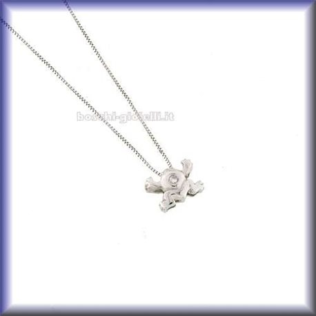 OUR CREATIONS chain with pendent frog gold diamond