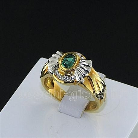 OUR CREATIONS ring emerald gemstones sn061