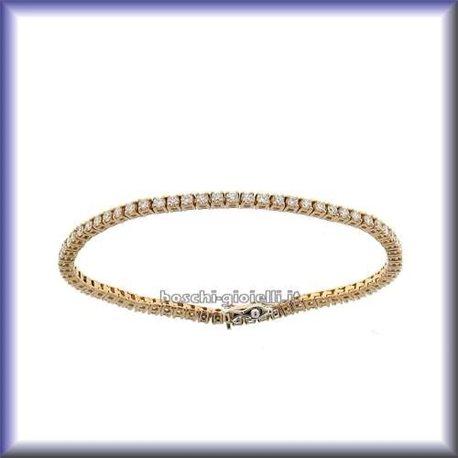 OUR CREATIONS tennis bracelet tenrosy rose gold diamonds