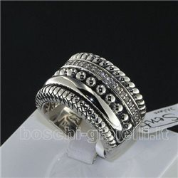 ti sento milano 1835zi jewelry ring in silver with zircons