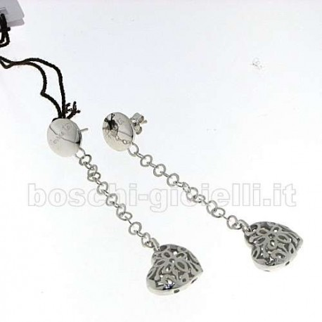 COMETE uorm170 silver earrings love heart