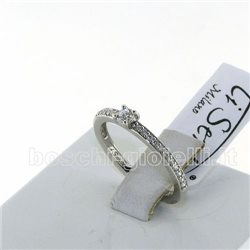 TI SENTO MILANO 1869zi silver ring solitaire collection