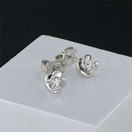 OUR CREATIONS jewelry earrings solitaire diamond mon3867