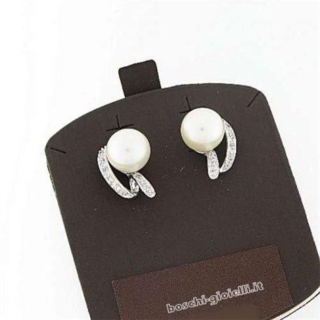 AMBROSIA aop019 gold earrings pearls zircons