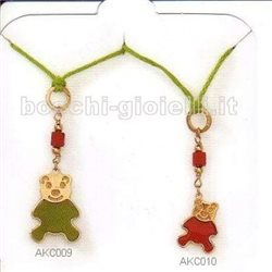 AMBROSIA akc009 pendent the cuddly bears gold 9k