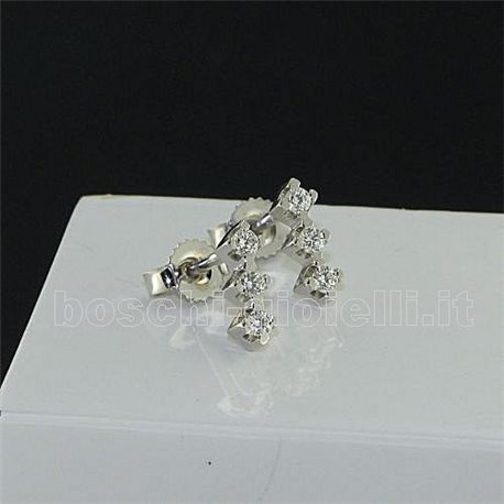 OUR CREATIONS earrings trilogy gold diamonds bosmont3396-br3