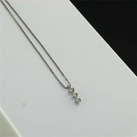 OUR CREATIONS chain with pendent trilogy gold diamonds bosmont3396-br5coll