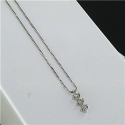 OUR CREATIONS chain with pendent trilogy diamonds bosmont3398-br9