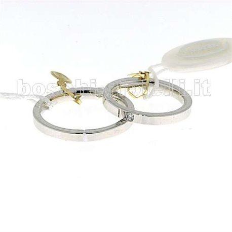 Unoaerre cpb2-5mm fedina cerchi di luce oro bianco