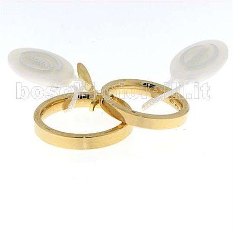 Unoaerre 35afc2 fedina cerchi di luce oro giallo altezza 3,5mm