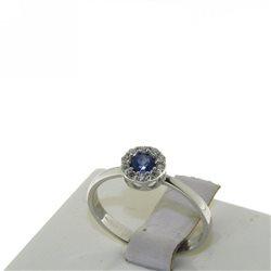 Nostre creazioni anello zaffiro blu diamanti bosmont-fl-an
