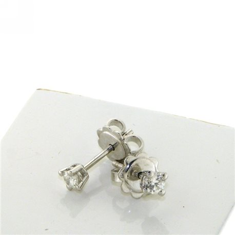 OUR CREATIONS earrings solitaire diamond 4 griffe bosmont3840-or25