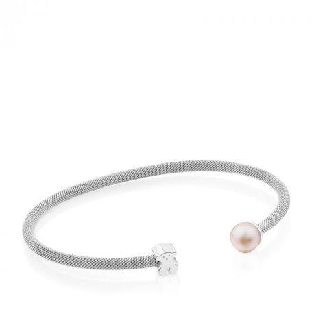 TOUS c613101500 icon mesh pearl bracelet