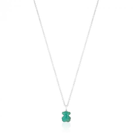 TOUS chain with pendent c615434510 new color silver amazonite