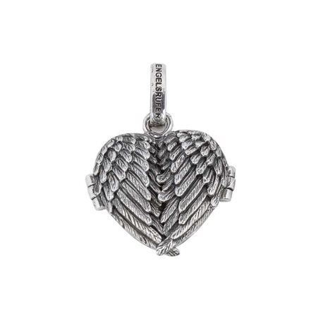 ENGELSRUFER silver pendent erp-me-wing-1 heart photo memory