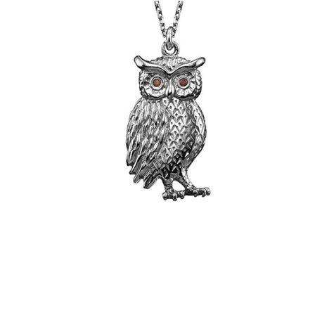 JULIE JULSEN silver pendent jjne9827-1 owl real lucky charm