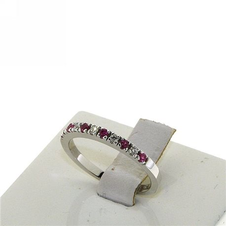 OUR CREATIONS ring diamonds and ruby gemstones bosmont4575-an-rb