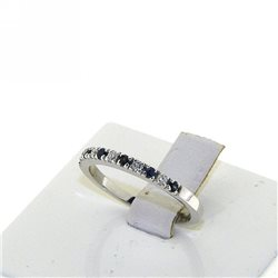 OUR CREATIONS ring diamonds blue sapphire bosmont4575-an-zb